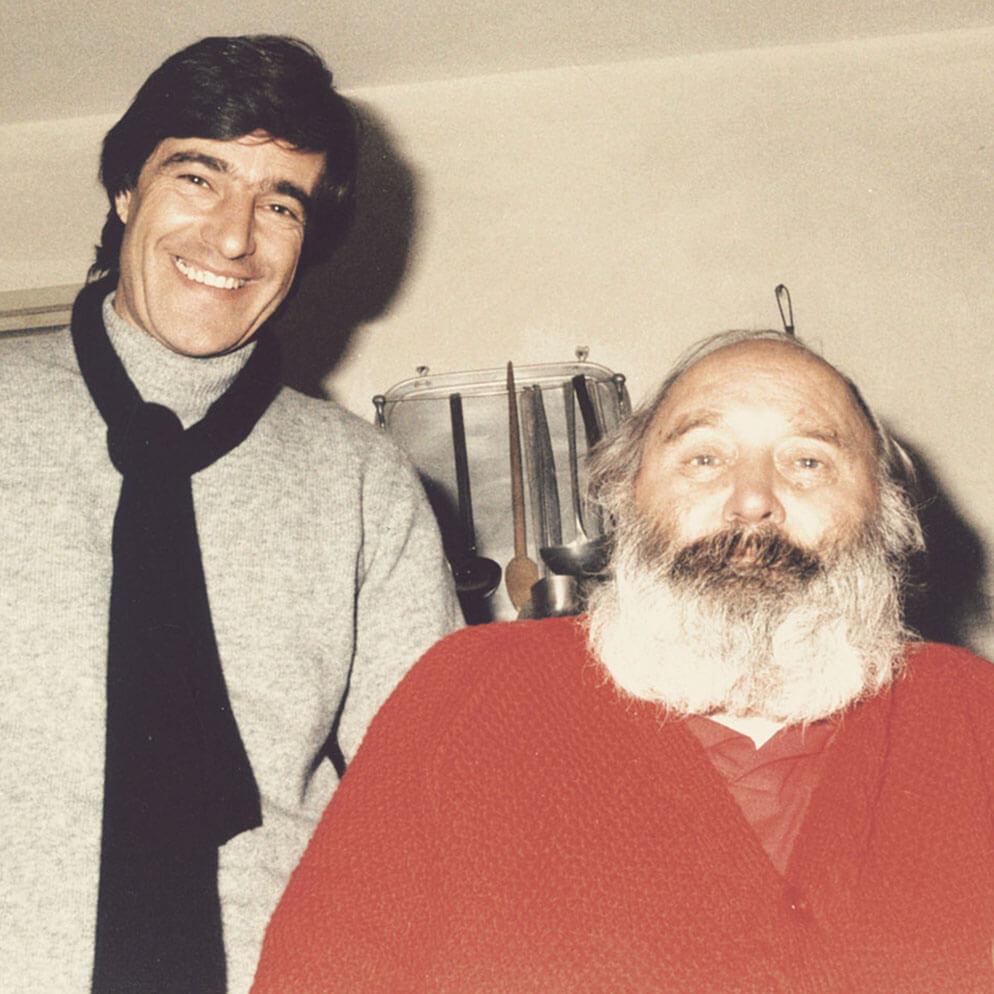 Con l'artista Antonio Zancanaro