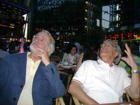 Con l'amico Giuliano Ghelli